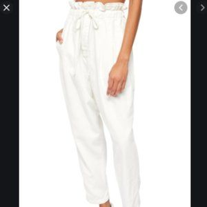 Free People Zinc White Margate Pleated Trousers-M